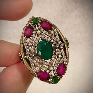 Royal Vintage Exquisite Decadent Empress Ruby Ring